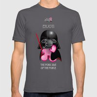 Berto: The Mental-issue pig trying Darth Vader costume Mens Fitted Tee Asphalt SMALL