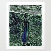 The Lady. Art Print