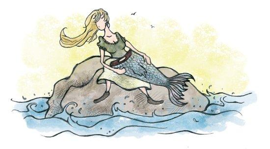 Mermaid Maybe Art Print