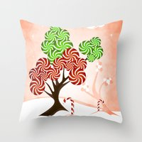 Magic Candy Tree - V1 Throw Pillow
