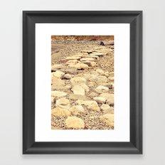broken road Framed Art Print