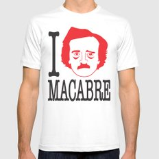 I __ Macabre White SMALL Mens Fitted Tee