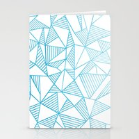 Abstraction Lines Waterc… Stationery Cards