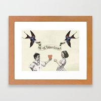 To My Valentine Framed Art Print