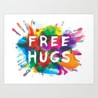 free hugs Art Print