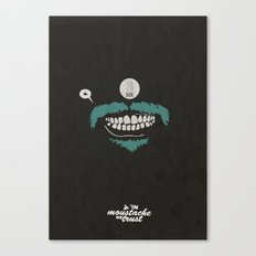 In moustache we trust #1 Canvas Print