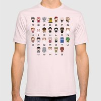 Doctor Who Alphabet Mens Fitted Tee Light Pink SMALL
