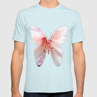 Light pink azalea or rhododendron flower. floral botanical garden photography. Mens Fitted Tee Light Blue SMALL