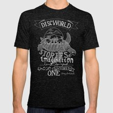 DISCWORLD Mens Fitted Tee Tri-Black SMALL