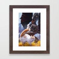 Startled Framed Art Print