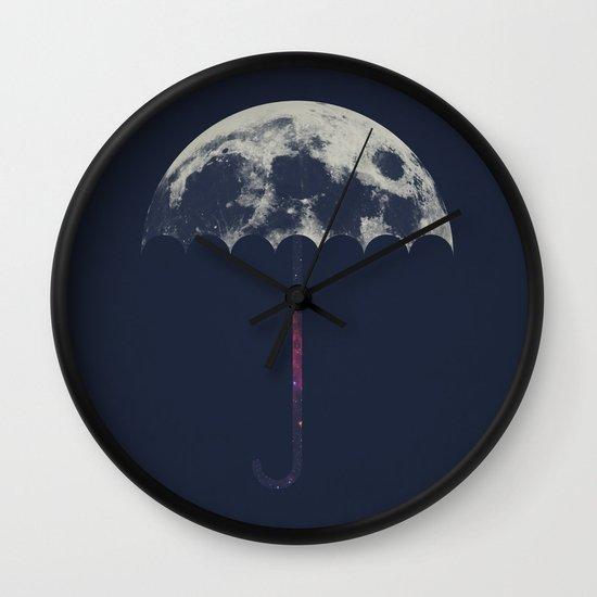 Space Umbrella Wall Clock