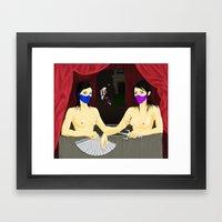 Kitana & Mileena Framed Art Print