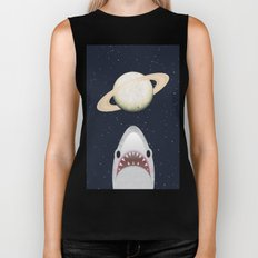 The Universe Is A Shark's Playground Biker Tank