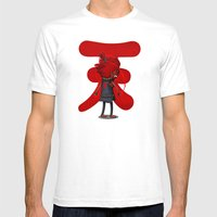 Raging Demon Mens Fitted Tee White SMALL