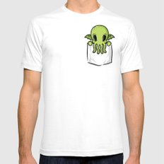 Pocket Cthulhu SMALL White Mens Fitted Tee