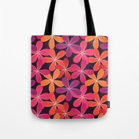 Hippie Orange and pink flowers  Tote Bag