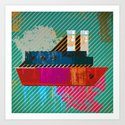 the red ship Art Print