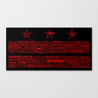 DC Flag Red Canvas Print