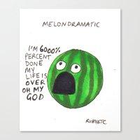 Melondramatic Canvas Print