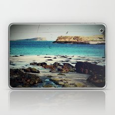 Dinosaur Beach - Retro look fine art canvas print Laptop & iPad Skin