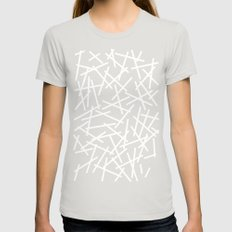 Kerplunk Navy and White Womens Fitted Tee Silver SMALL