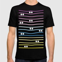 Watching you! Mens Fitted Tee Black SMALL