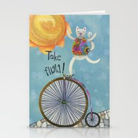 Take Flight With The Sun On Your Face Stationery Cards