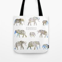 Elephants Of The United … Tote Bag