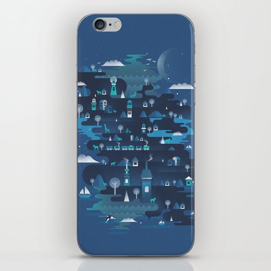 Land of the Blue Mountains iPhone & iPod Skin