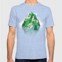 Mysterious Island Mens Fitted Tee Tri-Blue SMALL