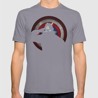 SuperHeroes Shadows : Captain America Mens Fitted Tee Slate SMALL