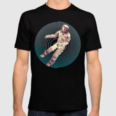 Time & Space Mens Fitted Tee Black SMALL