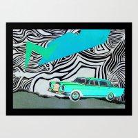 Drive my car Art Print