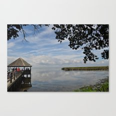 Water Landscape Scene Reflection on the Bay Canvas Print