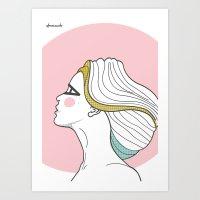 Profile Girl Art Print