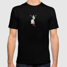 Hula Girl Mens Fitted Tee Black SMALL