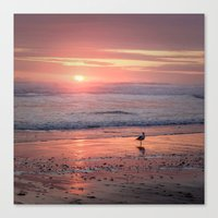 Sunset At Cannon Beach O… Canvas Print