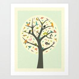 Art Print - TREE OF LIFE - Jazzberry Blue