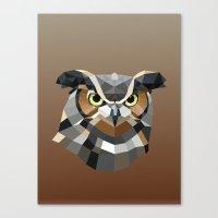 Geometric Owl Canvas Print