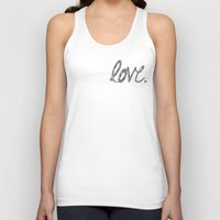 Unisex Tank Top featuring Love Zentangle  by Love2Snap