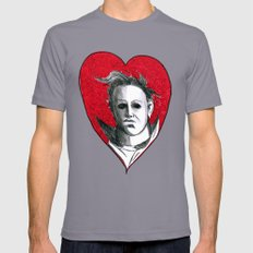 Micheal Myers (All Heart) Mens Fitted Tee Slate SMALL