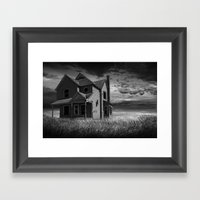 Abandoned Farm House At … Framed Art Print