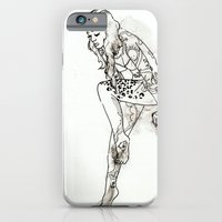 iPhone & iPod Case featuring Tattooed Lady by Cat Rocketship