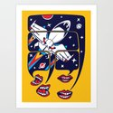 Let's talk about spaceships Art Print