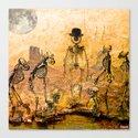 Monsieur Bone et l'évolution  Canvas Print