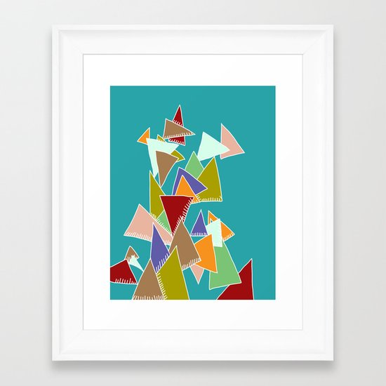 Triads Triads Triads Framed Art Print