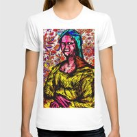 Mona Lisa Womens Fitted Tee White SMALL