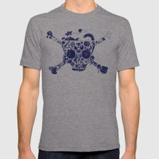 Pirates Stuff Mens Fitted Tee Tri-Grey SMALL