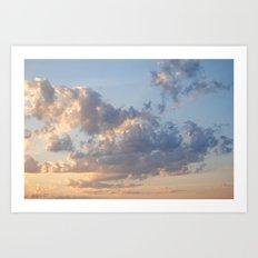 Florida Clouds Art Print