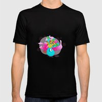 Fortune Feather Teller Mens Fitted Tee Black SMALL